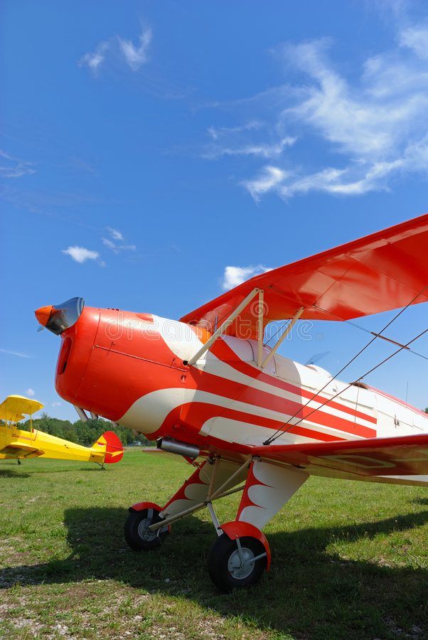 Biplane. At an airshow in Munich royalty free stock photography