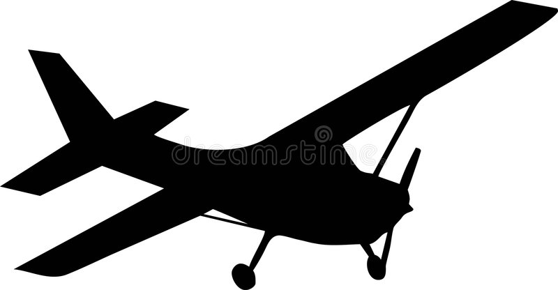 Biplane aircraft. Illustration of one biplane aircraft royalty free illustration