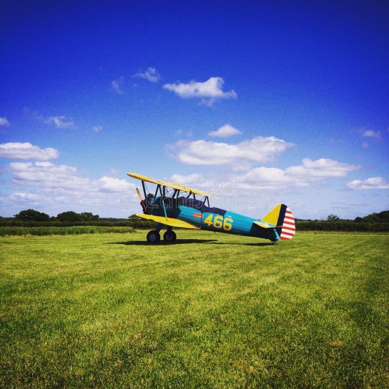 Biplane royalty free stock photos