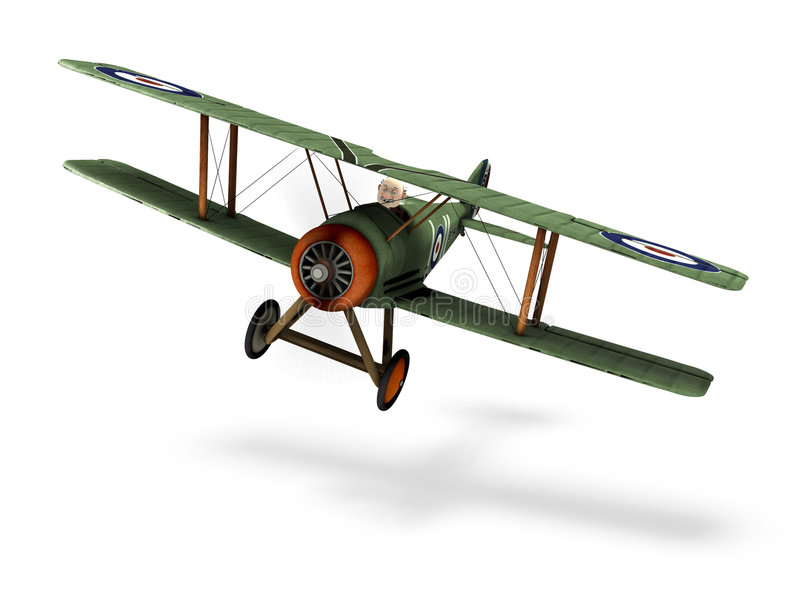 Biplane cartoon. A cartoon biplane vector illustration