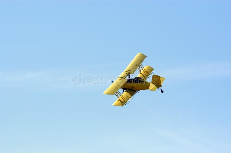 Biplane Crop Duster stock images