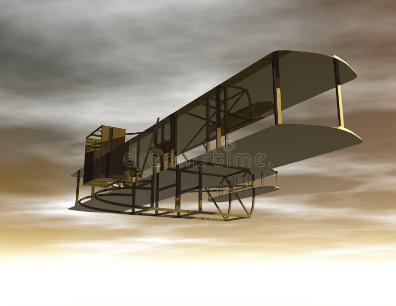 Biplane. Digital Illustration of a Biplane royalty free illustration
