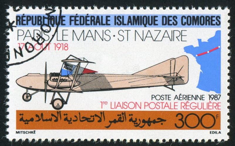 Biplane Farman στοκ εικόνα