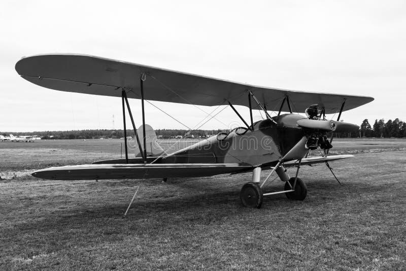Biplane Polikarpov Po-2, aircraft WW2. Biplane Polikarpov Po-2 on ground, the aircraft WW2 royalty free stock image