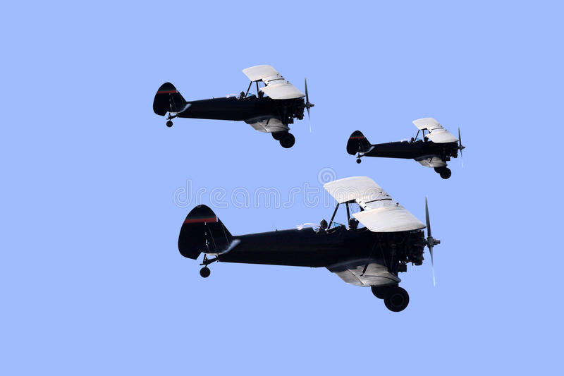 Biplanes stock images