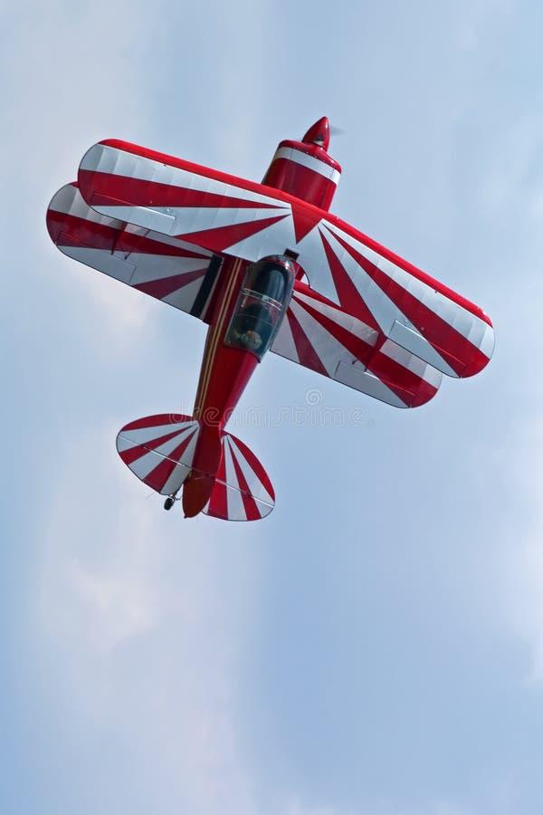 Biplano Aerobatic fotografia stock libera da diritti