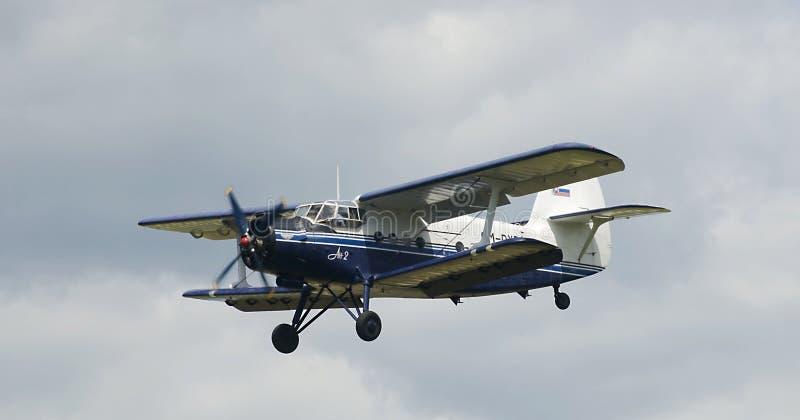Biplano Antonov AN2 fotografie stock