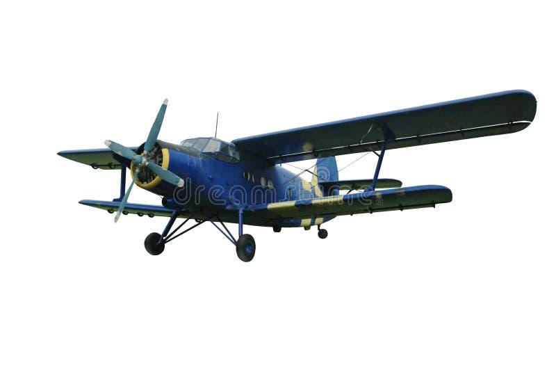 Biplano azul, aislado