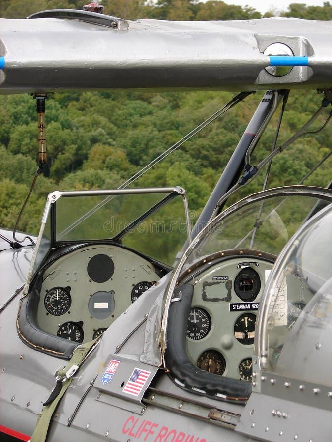 Biplano bonito do airshow de Boeing Stearman imagem de stock royalty free