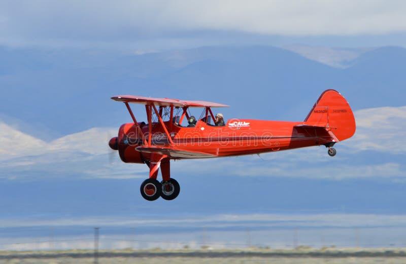 Biplano de Boeing Stearman fotografia de stock royalty free