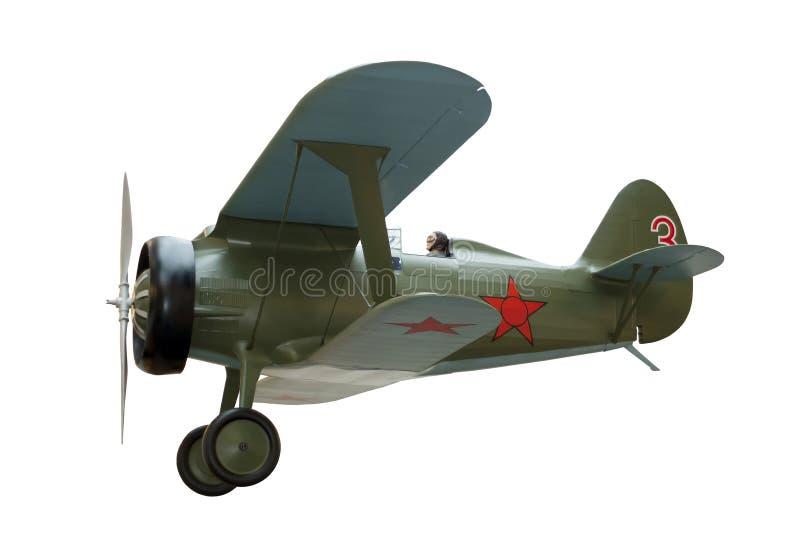 Biplanu myśliwiec odizolowywający zdjęcie stock