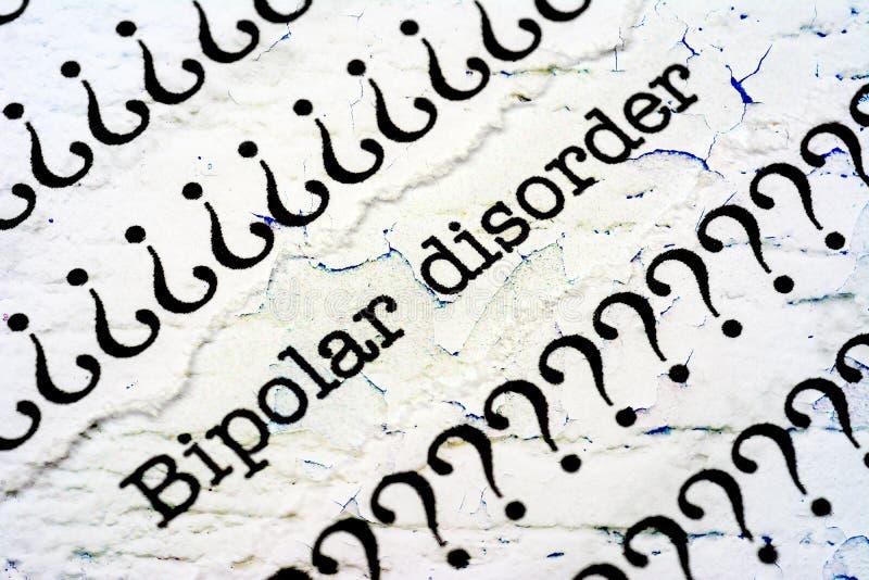 bipolär oordning arkivbilder