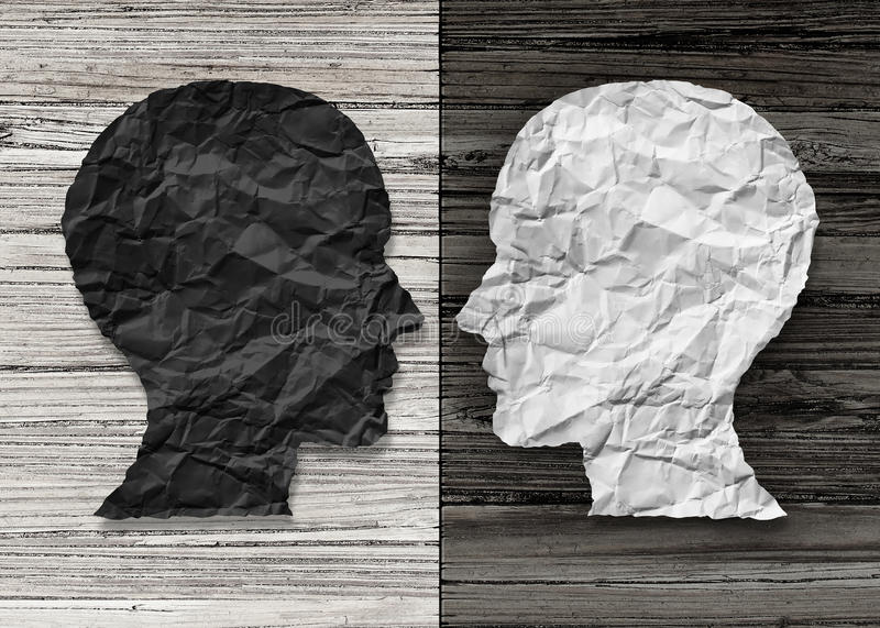 Bipolaire Geestelijke Gezondheid stock illustratie