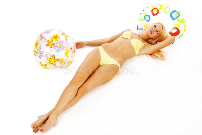 Download Biquini foto de stock. Imagem de menina, bikini, inflável - 10053584