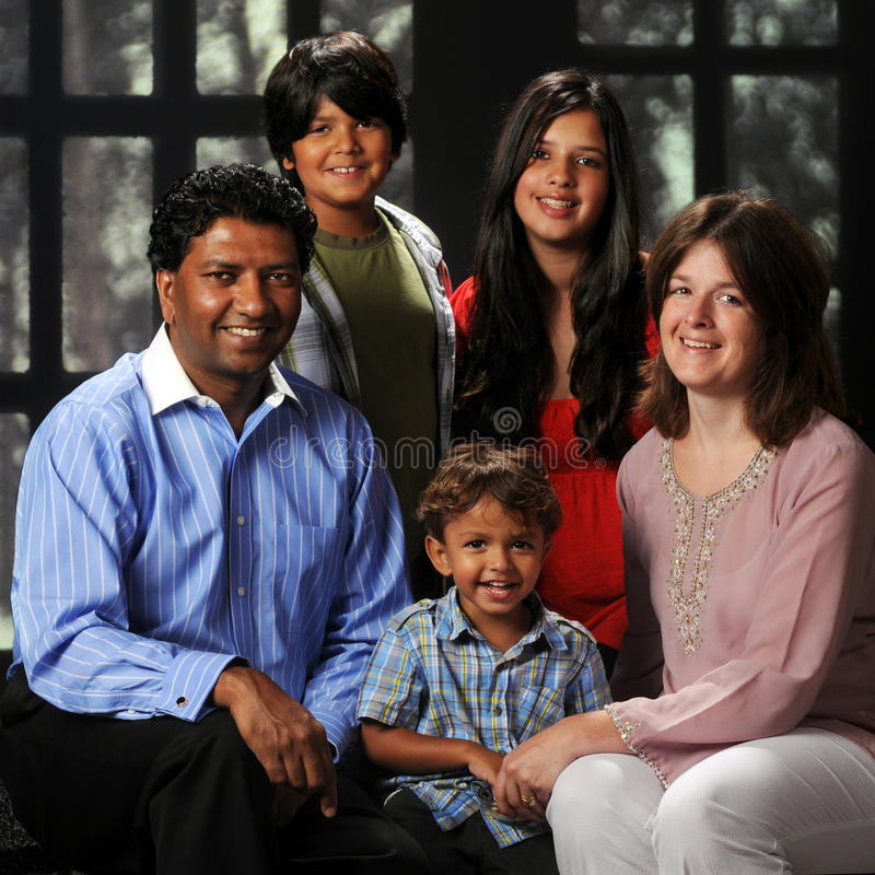 Biracial Family Portriat royalty free stock photos