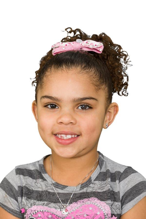 Biracial kleines Mädchen lizenzfreies stockbild