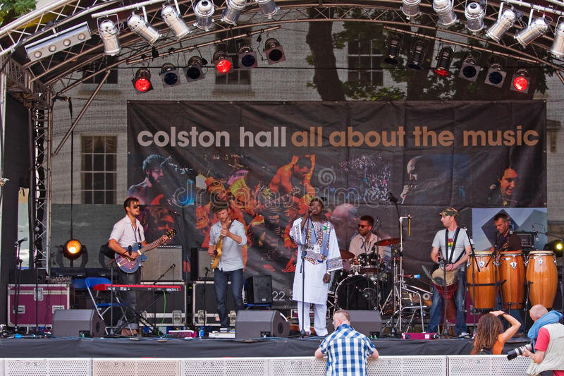 Biram Seck at the Bristol Festival royalty free stock image