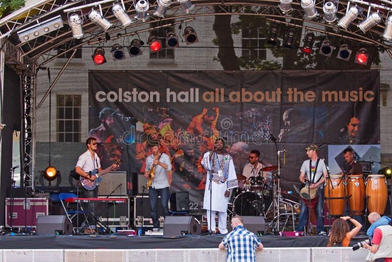 Biram Seck en el festival de Bristol imagen de archivo libre de regalías