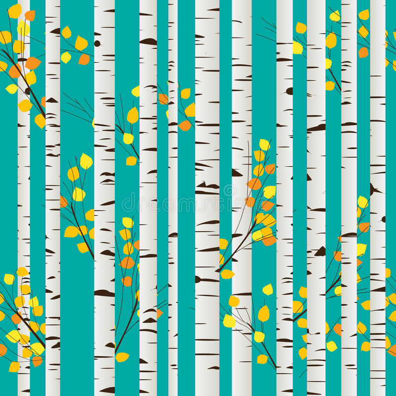 Download Birch forest pattern stock vector. Illustration of background - 26815145