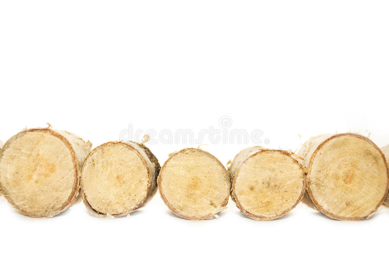 Birch logs stock images