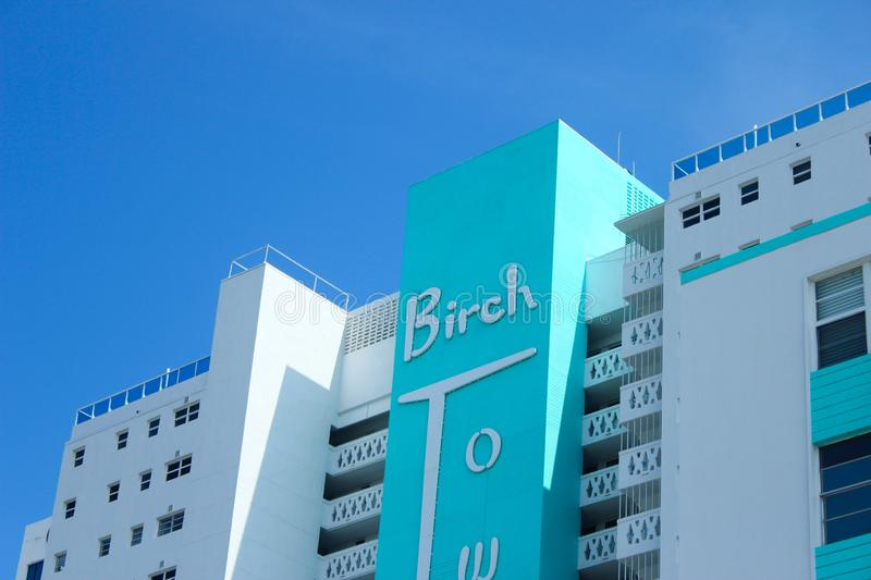 Fort Lauderdale, Florida. August 14th 2019. Birch tower luxury apartments. stock photos