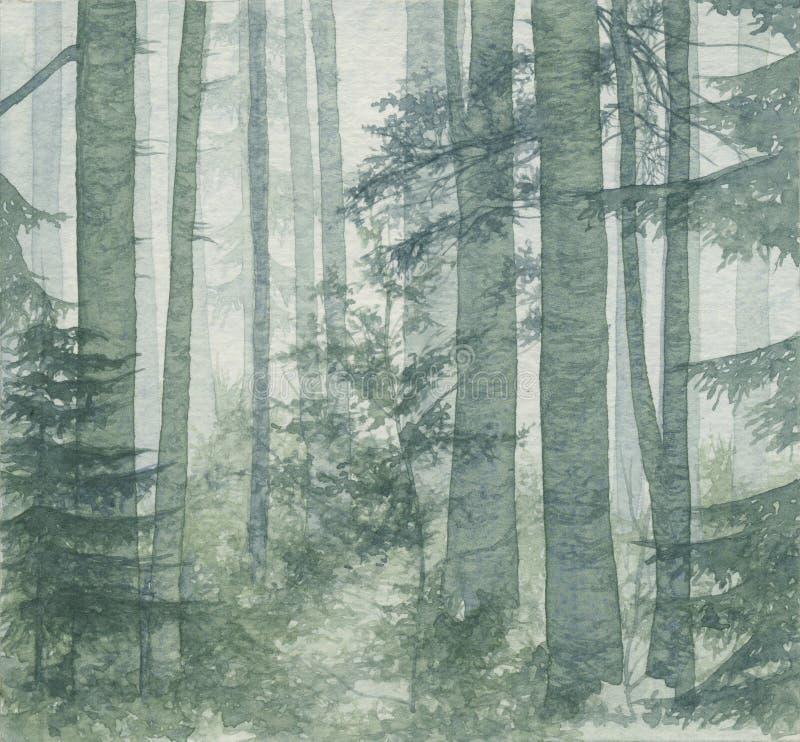 Download Birch wood stock illustration. Illustration of watercolor - 3445954