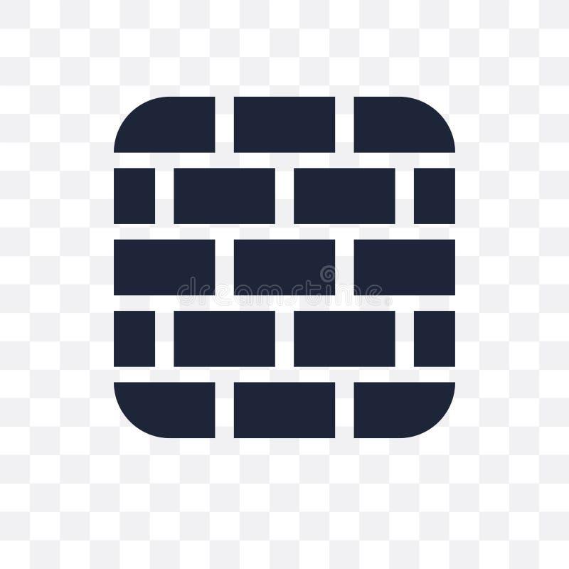 Birck墙壁透明象 Birck墙壁从Const的标志设计 向量例证