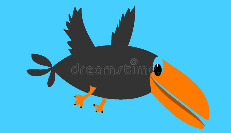 Download The bird stock illustration. Image of drawing, afterimage - 11638070