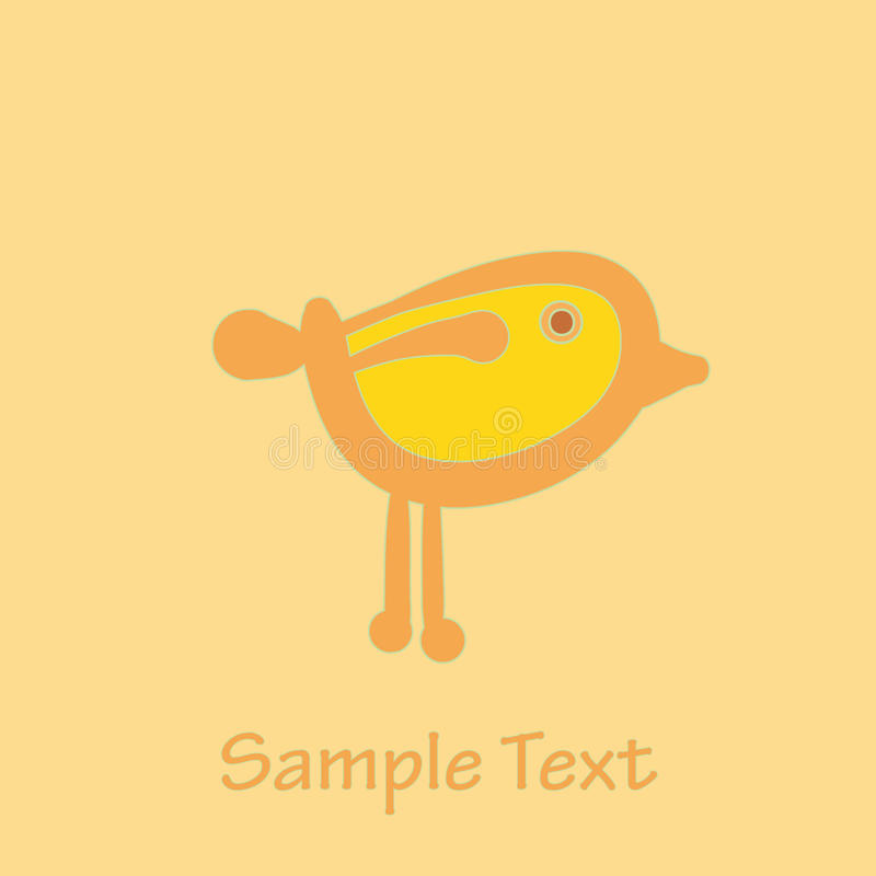 Download Bird stock vector. Illustration of yellow, background - 14801795