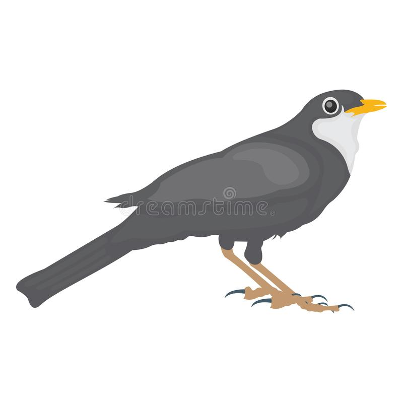Bird, black bird Vector Icon. Which can be edit or modified royalty free illustration