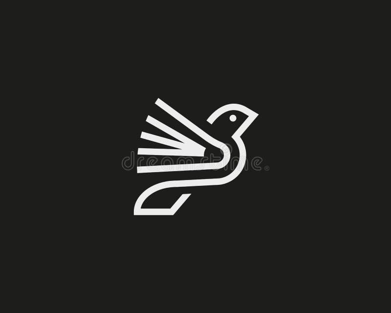Bird book vector logotype. stock illustration