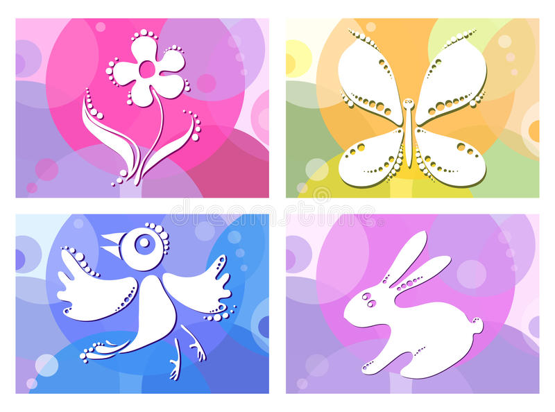 Download Bird-butterfly-flower-bunny Stock Illustration - Image: 13466879