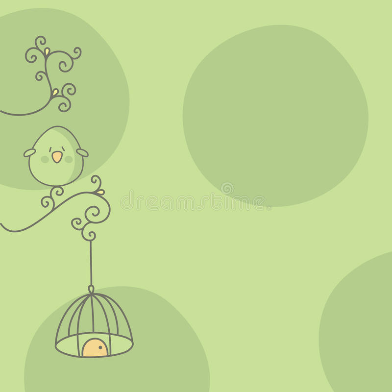 Bird and cage stock images