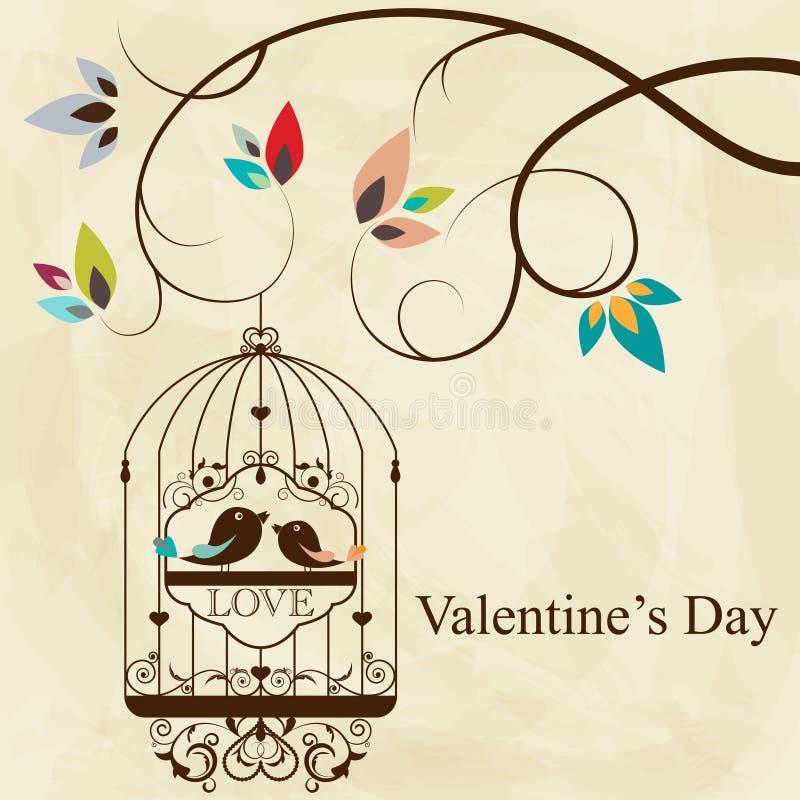 Bird cage stock illustration