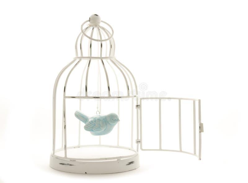 Bird in cage stock photo