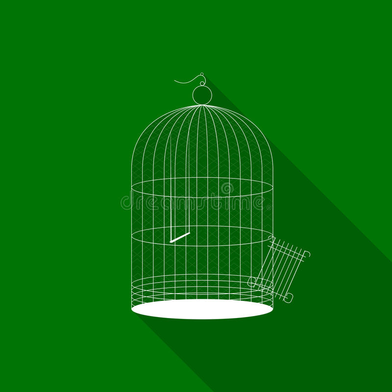 Bird cage icon stock illustration