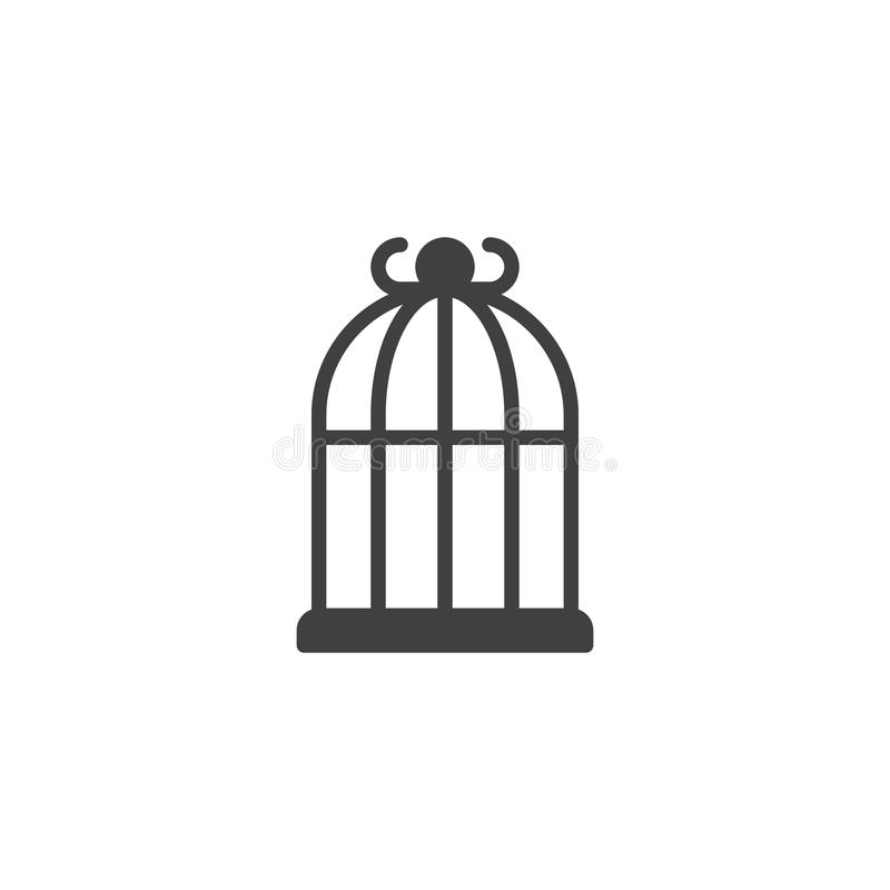 Bird cage icon vector royalty free illustration