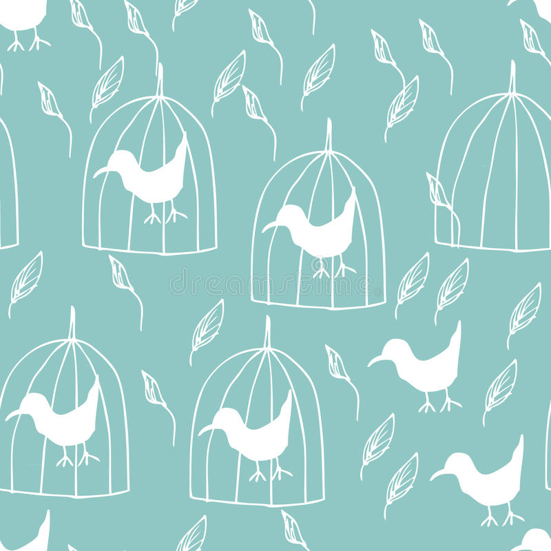 Bird and Cage royalty free illustration