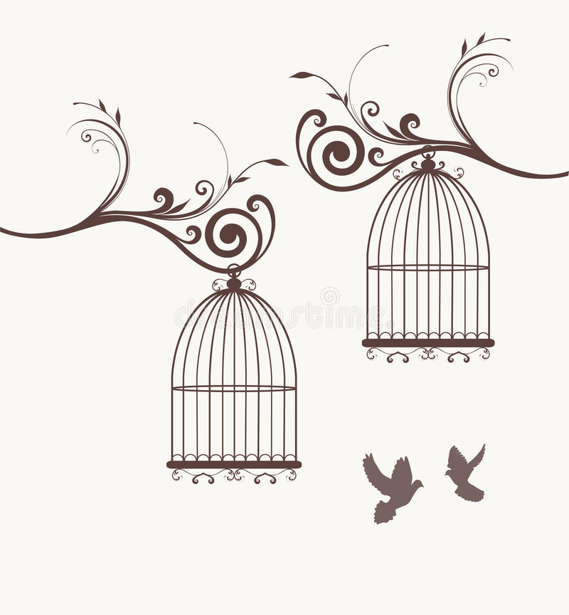 Free Bird Cages Royalty Free Stock Image - 51899136