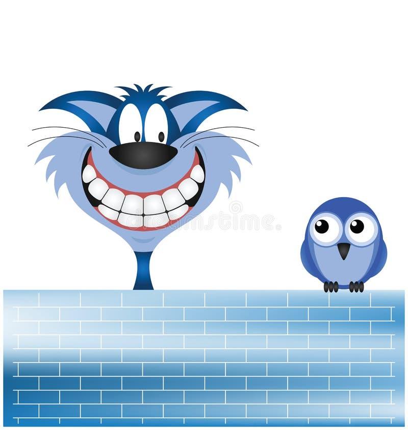 Download Bird and Cat stock vector. Image of bird, construction - 21612266