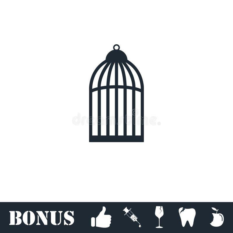 Bird cell icon flat vector illustration