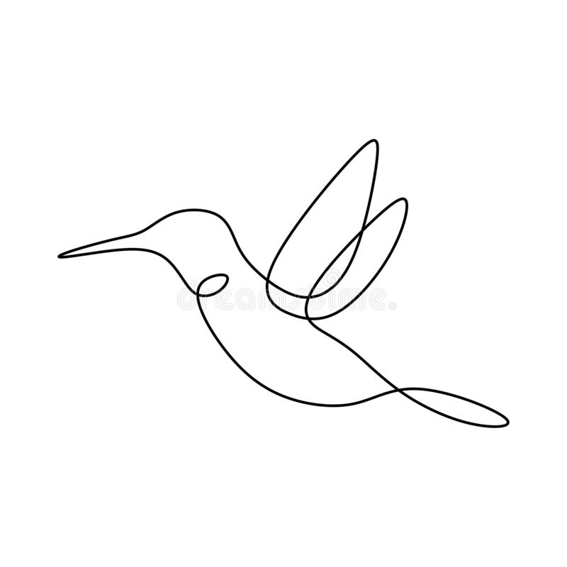 Bird continuous line drawing vector illustration minimalist design good for logo branding and abstract minimalism poster vector illustration