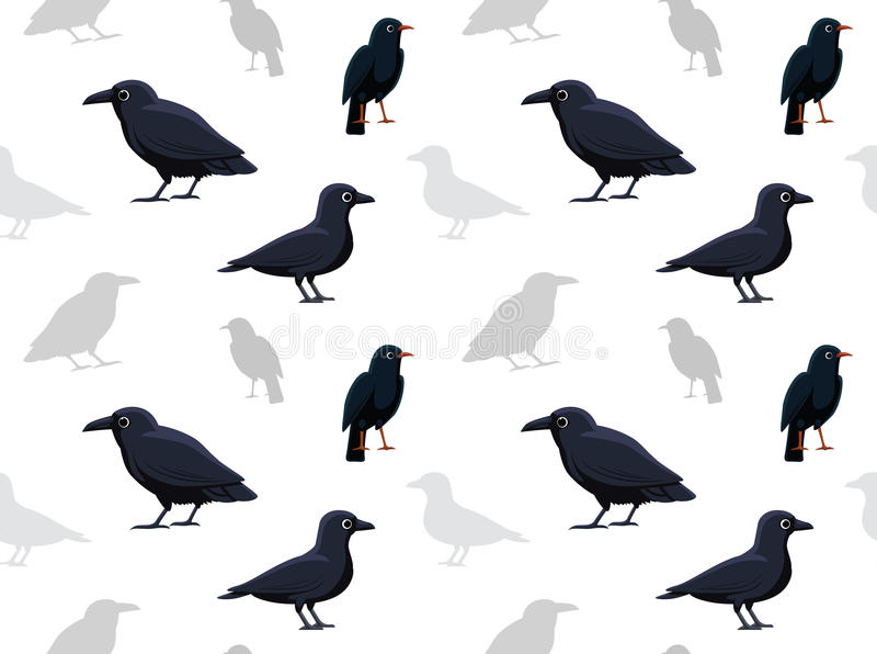 Download Bird Crow Wallpaper Stock Vector Illustration Of