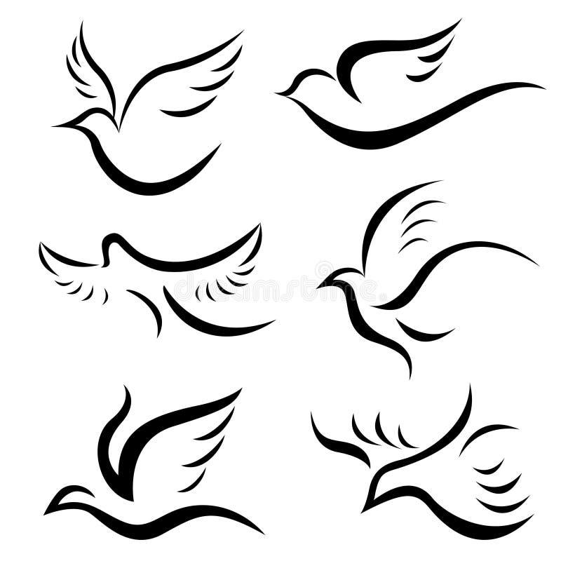 Free Bird Designs Vector Royalty Free Stock Photos - 12205278
