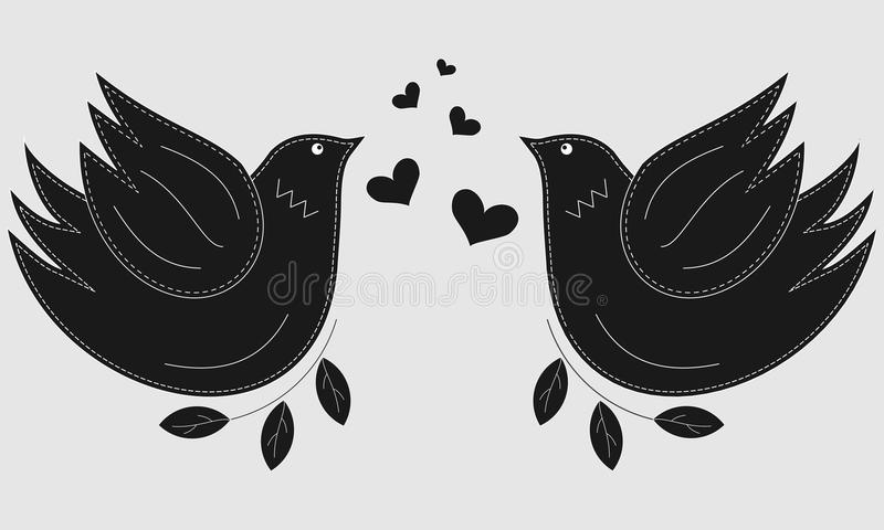 Bird The Dove Pigeon Symbol Of Peace Love Birds Stock Vector