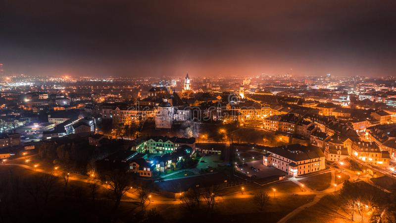 The beautiful panorama of Lublin stock images