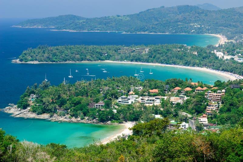 Bird eye view of Phuket, Thailand royalty free stock image