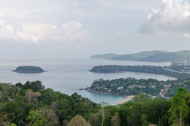 Bird eye view of Phuket, Thailand royalty free stock photos