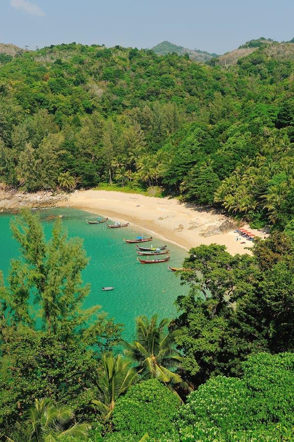 Bird eye view of Phuket viewpoint stock photography