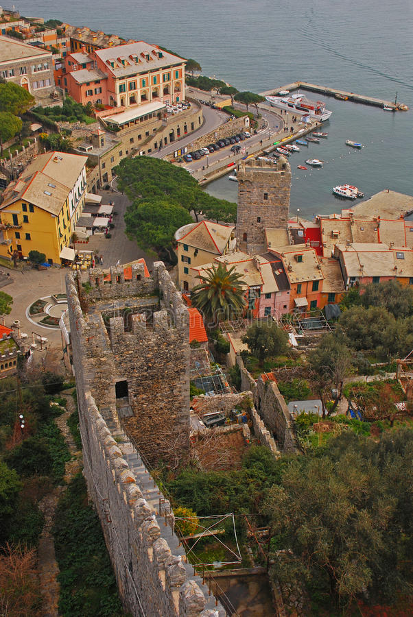 Bird Eye View of Porto Venere royalty free stock photo